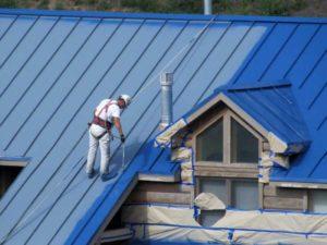 Подготовительный этап при окрашивании крыши