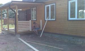 Деревянные ограждения для террасы на участке своими руками