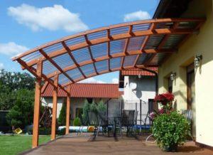 Какая минимальная толщина поликарбоната нужна будет на крышу террасы