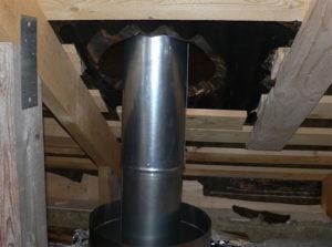 Как осуществить монтаж дымохода из сэндвич-труб через крышу своими руками