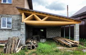 Как пошагово сделать крышу на пристройке к дому своими руками