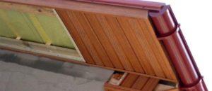 Как проводится подшивка свесов крыши своими руками